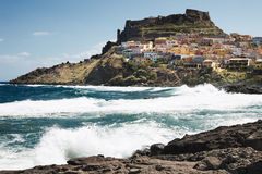 castelsardo撒丁岛 免版税库存图片