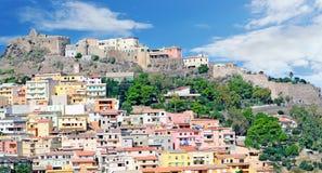 Castelsardo横向 免版税图库摄影