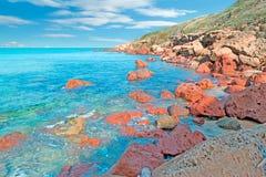 Castelsardo海岸线 图库摄影