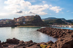 castelsardo,撒丁岛风景  图库摄影