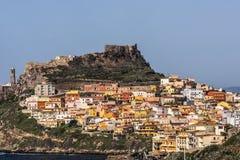 Castelsardo - туристское назначение в провинции Sassari, Сардинии, Италии стоковые изображения rf