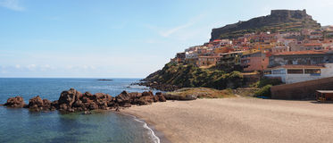 Castelsardo, built upon a cliff Stock Photography