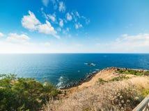 Castelsardo coast on a clear day Stock Image