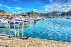 Castelsardo harbor in hdr Royalty Free Stock Photo