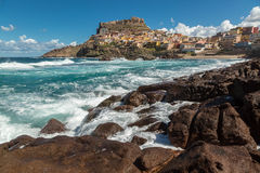 Castelsardo on northern coast of Sardinia Royalty Free Stock Photo