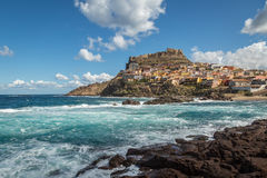 Castelsardo on northern coast of Sardinia Stock Images