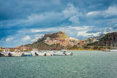 Castelsardo, in the northwest of Sardinia island, Italy. Castelsardo, located in the northwest of Sardinia within the Province of Sassari, at the east end of the royalty free stock image