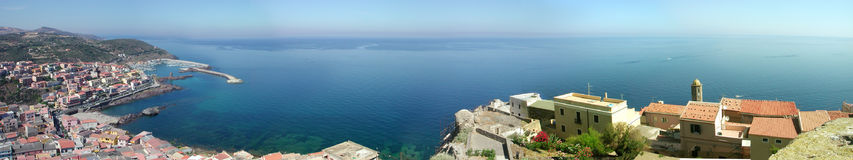 Castelsardo Panorama. Sassari - Sardegna - Italy. Panoramic shot of Castelsardo - Sassari - Sardegna - Italy stock photo