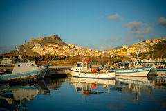 Castelsardo port in august 2013 Royalty Free Stock Image