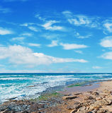 Castelsardo rocky shore Stock Image