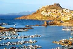 Castelsardo, Sardinien stockfotos