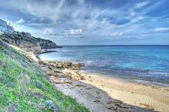 Castelsardo shoreline in hdr Royalty Free Stock Photography