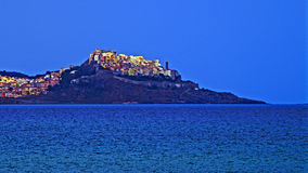 Castelsardo view. Morning landscape of Castelsardo degrading to the sea Stock Image