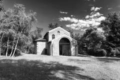 Castelseprio Lombardei, Italien, archäologische Zone Lizenzfreies Stockfoto