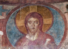 Castelseprio Lombardei, Italien, Malereien in der Kirche Lizenzfreie Stockfotografie