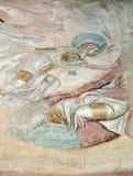 Castelseprio Lombardia, Italia, pitture nella chiesa Immagini Stock
