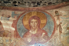 Castelseprio Lombardie, Italie, peintures dans l'église Photographie stock libre de droits