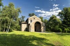 Castelseprio Lombardy, Italien, arkeologisk zon Fotografering för Bildbyråer