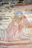 Castelseprio Lombardy, Italien, målningar i kyrkan Fotografering för Bildbyråer
