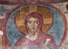 Castelseprio Lombardy, Italien, målningar i kyrkan Royaltyfri Fotografi