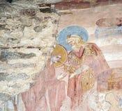 Castelseprio Lombardy, Italien, målningar i kyrkan Royaltyfria Foton