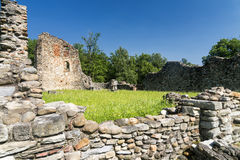 Castelseprio & x28; La Lombardia, Italy& x29; , zona archeologica Fotografie Stock