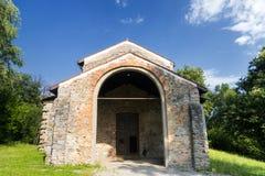 Castelseprio & x28; La Lombardia, Italy& x29; , zona archeologica Immagini Stock Libere da Diritti