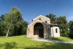 Castelseprio & x28; Lombardije, Italy& x29; , archeologische streek Stock Fotografie
