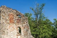 Castelseprio & x28; Lombardy Italy& x29; , arkeologisk zon Arkivbild