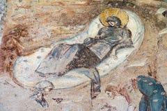 Castelseprio & x28; Lombardy, Italy& x29; , pinturas na igreja Fotos de Stock