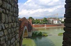 castelvecchio Ιταλία Βερόνα Στοκ Φωτογραφία
