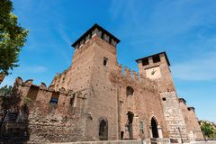 Castelvecchio - средневековый старый замок - Верона Стоковые Изображения