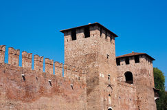 Castelvecchio. In the City of Verona in Northern Italy Stock Image