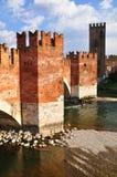 Castelvecchio-Brücke Stockbild