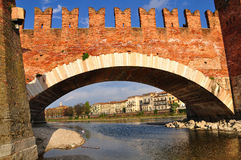 Castelvecchio-Brücke Lizenzfreies Stockfoto