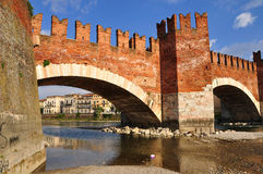 Castelvecchio bridge. Royalty Free Stock Image