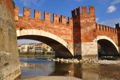 Castelvecchio bridge. Royalty Free Stock Image