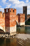 Castelvecchio bridge. Stock Image
