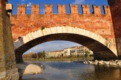 Castelvecchio bridge. Royalty Free Stock Photo