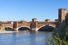 Castelvecchio Bridge - Verona Italy Royalty Free Stock Image