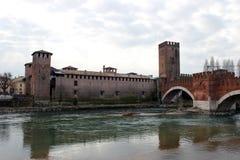 Castelvecchio Bridge in Verona Stock Photography