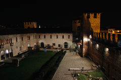 Castelvecchio castle at night Royalty Free Stock Images