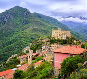 Castelvecchio Di Rocca Barbena, Ιταλία Στοκ εικόνες με δικαίωμα ελεύθερης χρήσης