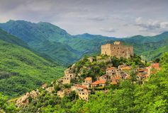 Castelvecchio Di Rocca Barbena Στοκ εικόνες με δικαίωμα ελεύθερης χρήσης