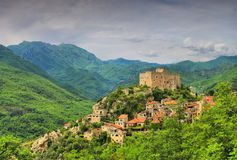 Castelvecchio Di Rocca Barbena Στοκ Φωτογραφία