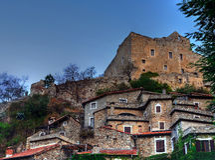 Castelvecchio di rocca barbena (savona)italy Stock Photography