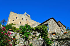 Castelvecchio di rocca barbena (savona)italy Stock Photo