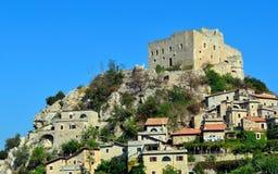 Castelvecchio di rocca barbena (savona)italy Stock Images