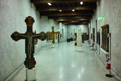 Castelvecchio museum exhibits Royalty Free Stock Photo