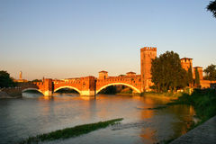 Castelvecchio-Ponte Scaligero Stock Images